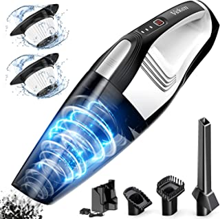 Handheld Vacuum Cordless, Veken Portable Car Vacuum Cleaner with 7500 Pa Powerful Suction, Rechargeable Wet Dry Dust Buster, Mini Hand Vac Small Vacuum for Home/Pet Hair/Floor/Car Cleaning