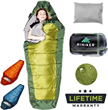 HiHiker Mummy Bag + Travel Pillow w/Compact Compression Sack – 4 Season Sleeping Bag..