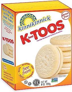 Kinnikinnick KinniTOOS Gluten Free Vanilla Sandwich Cream Cookies - Case of 6 - 8oz/220g pkgs