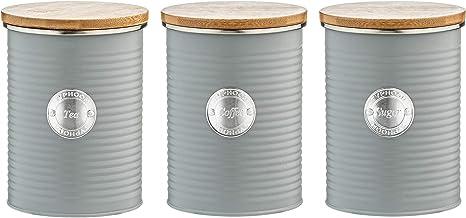 Amazon Co Uk Grey Kitchen Canisters