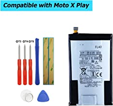 Upplus FL40 Replacement Battery Compatible with Motorola Droid Maxx 2,Moto X 3a,Moto X Play,XT1560,XT1561,XT1562,XT1563,XT1565 with Toolkit