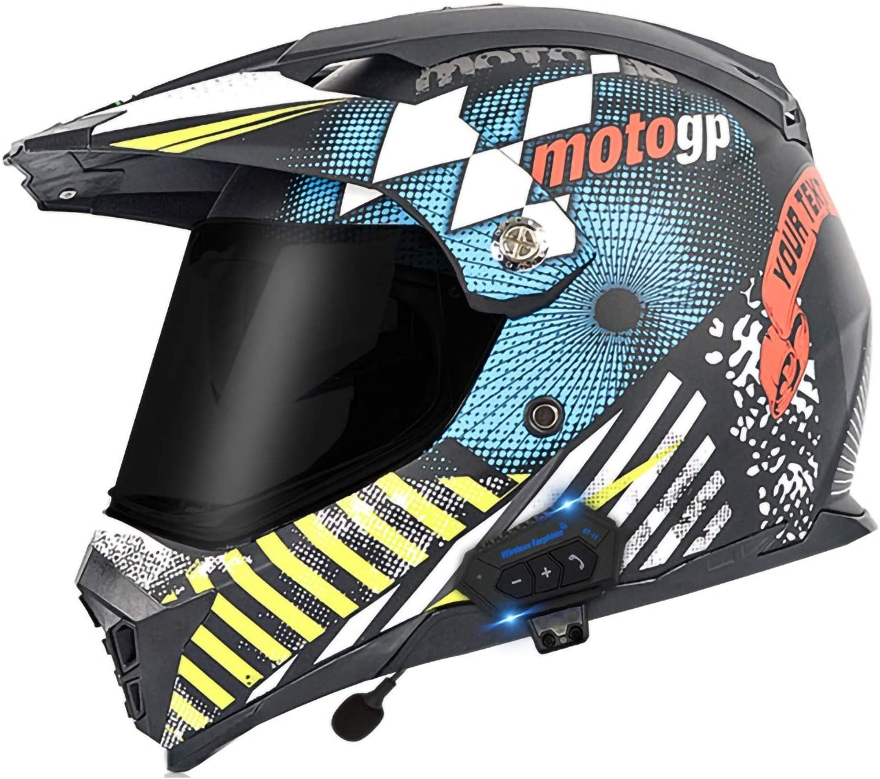 ZLYJ Manufacturer direct delivery Motocross Helmet with Integrated Offroad Bluetooth Import Headset