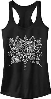 Women's Henna Lotus Flower Ideal Racerback Graphic Tank Top