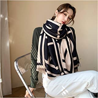 scarf New Scarf Fashion Female Winter Scarves Thick Double-Sided Shawl Femlae Student Head Wraps Hijab (Color : 4, Size : ...