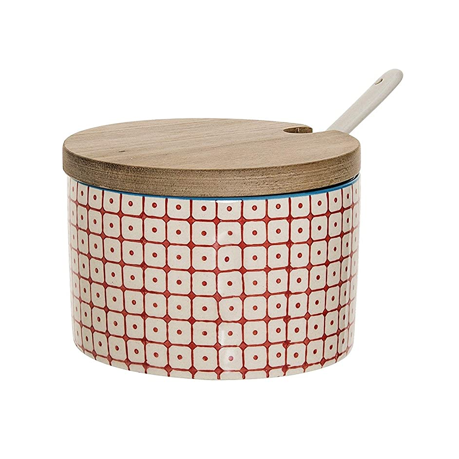 Bloomingville sugar bowl Carla red