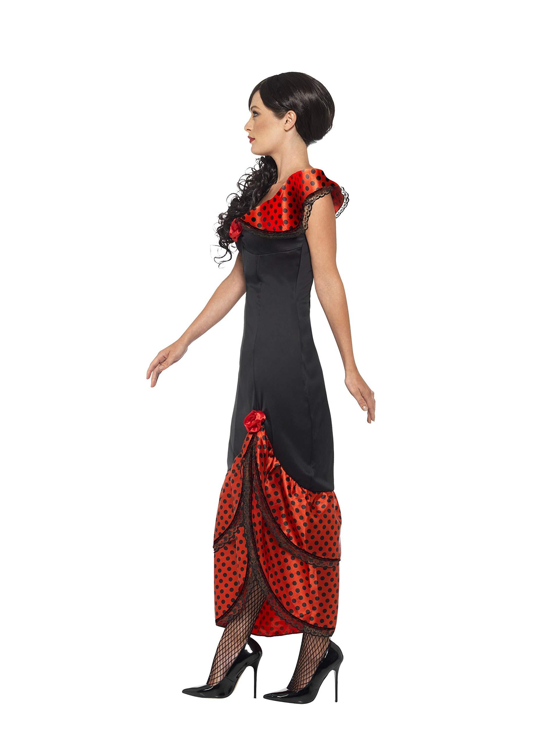 Smiffys Disfraz de bailaora de Flamenco, Negro, con Vestido y ...