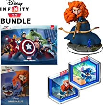 Disney Infinity: Disney Originals (2.0 Edition) Merida from Brave and Stitch from Lilo and Stitch Bundle with Figure, Web Card, Poster and Game Power Disc