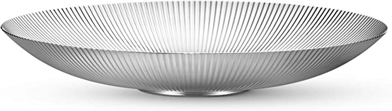 Georg Jensen Bernadotte Decoratieve Kom, Low 32cm, zilveren roestvrij staal door Sigvard Bernadotte