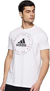 Adidas Men's Emblem Graphic Tee (Short Sleeve), White, Medium (DV3100)