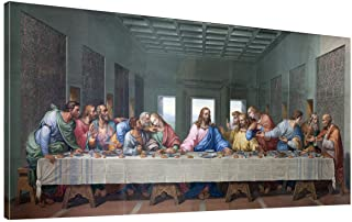 the Last Supper by by Leonardo Davinci Painting Print - 24