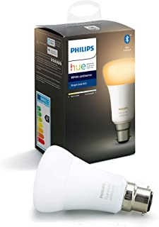 Philips Hue White Ambiance Single Smart Bulb LED [B22 Bayonet Cap] with Bluetooth. Works with Alexa and Google Assistant a...