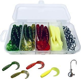 BB-flavor(ビービーフレーバー) ワームセット グラブジグヘッド30個セット ケース付き バス釣り アジング メバリング