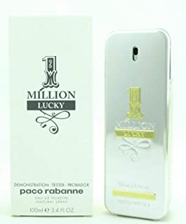 Paco Rabanne One Million Lucky for Men Eau de Toilette Spray, 3.4 Fl Oz (TESTER)