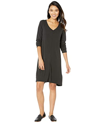 Fresh Produce Jetsetter Dress in Stretchy Modal Rib (Black) Women