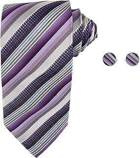 VS2008-2XL Purple Patterned Xmas Gift Vests Cufflinks Hanky Ascot Tie By Y/&G