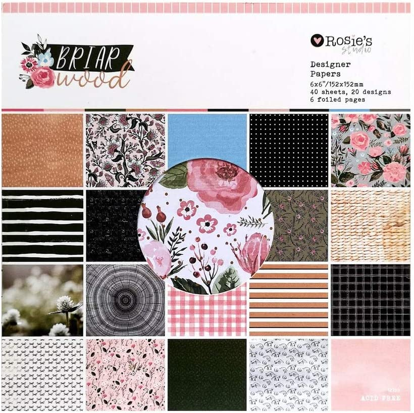 latest DTT CRZCrafter Online limited product 152x152mm 6 inch Pad 40 Paper Sheets Scrapbooking