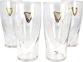 Set of 4 Guinness Beer Glass Pint Glass 20 Ounces