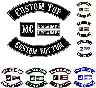 Custom Patch chaleco de motociclista, parches con nombre para chaquetas Gray on black1
