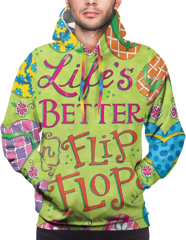 Hoodie For Mens Womens Teens Beach Flip Flop Summer Double-Sided 3d Sweatshirt Hoodie