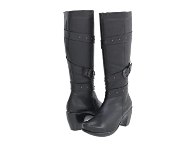 Naot Allure (Jet Black Leather) Women