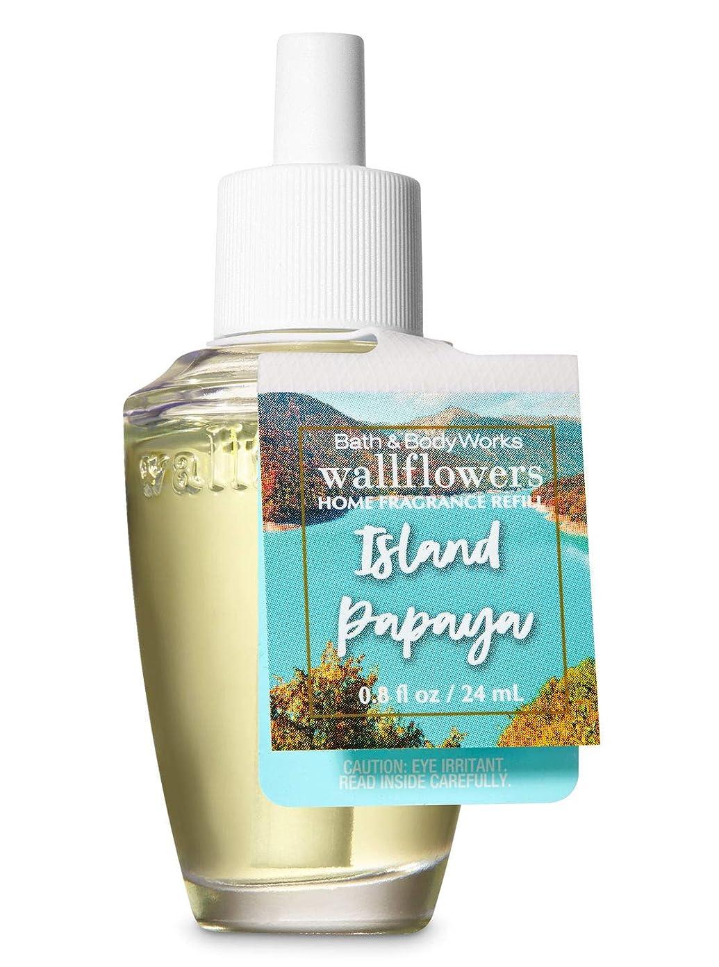 ナビゲーション自己尊重意外【Bath&Body Works/バス&ボディワークス】 ルームフレグランス 詰替えリフィル アイランドパパイヤ Wallflowers Home Fragrance Refill Island Papaya [並行輸入品]