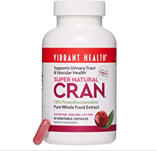 Vibrant Health - Super Natural Cran, Supports Urinary Tract & Vascular Health, 60 Count