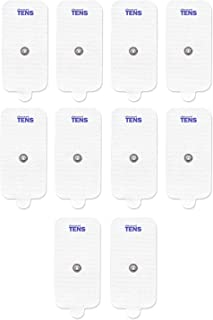 TENS Electrodes, Premium Quality XL Replacement Pads for TENS Units, 5 Pairs of Snap TENS Unit Electrodes (10 TENS Unit Pads), 2 inch x 4 inch, Discount TENS Brand