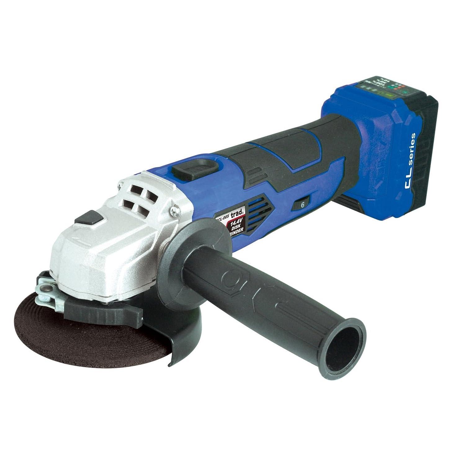 発行するマスタード裁判所TRAD 14.4V充電式ディスクグラインダー バッテリー?充電器付 TCL-005