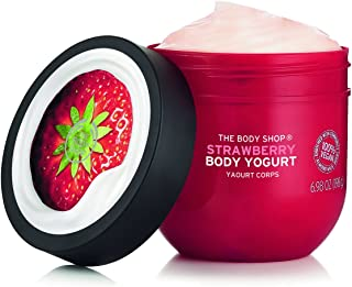 The Body Shop Strawberry Body Yogurt, 48hr Moisturizer, 100% Vegan, 6.98 Fl.Oz