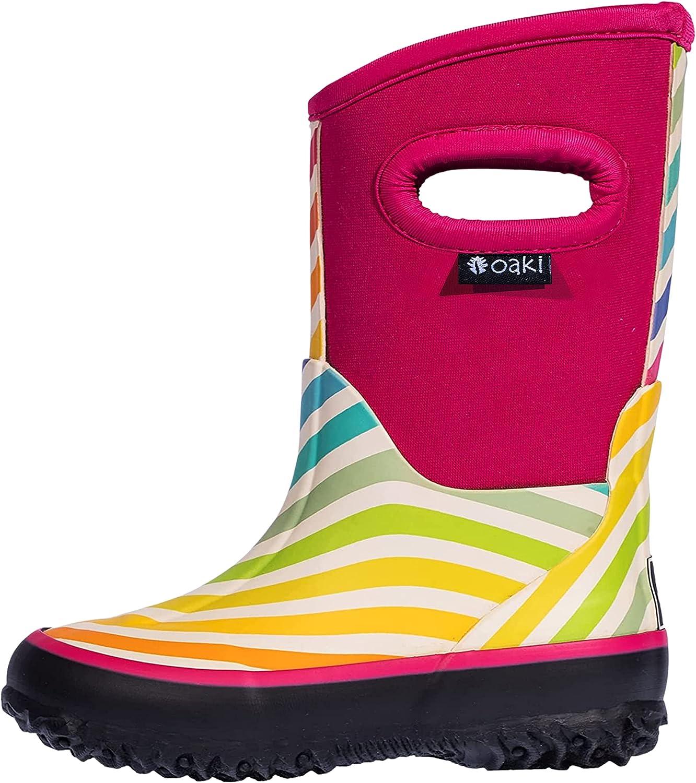OAKI Kid's Super beauty product restock quality Opening large release sale top Neoprene Rain Boots Snow Muck