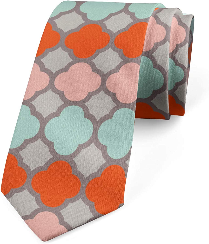 Ambesonne Necktie, Colorful Folkloric Art, Dress Tie, 3.7