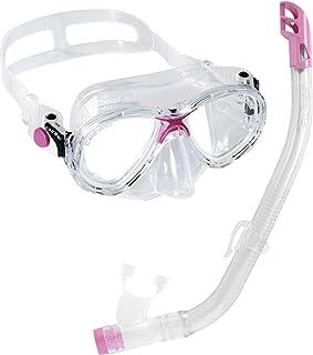 comprar comparacion Cressi C/Set Estrella VIP Jr Clear/Lime Kit de Snorkeling, Unisex niños