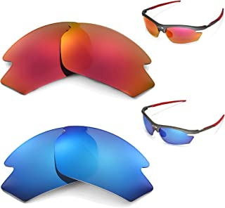 New Walleva Polarized Ice Blue + Fire Red Lenses for Rudy Project Rydon
