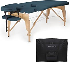 Saloniture Professional Portable Folding Massage Table with Carrying Case – Blue