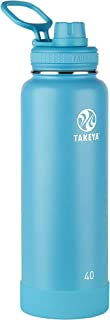 Takeya 51197 Actives Insulated Stainless Steel Water Bottle with Spout Lid, 40 oz, Surf