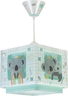 Dalber Koala Lámpara Infantil de Techo, 60 W, Verde