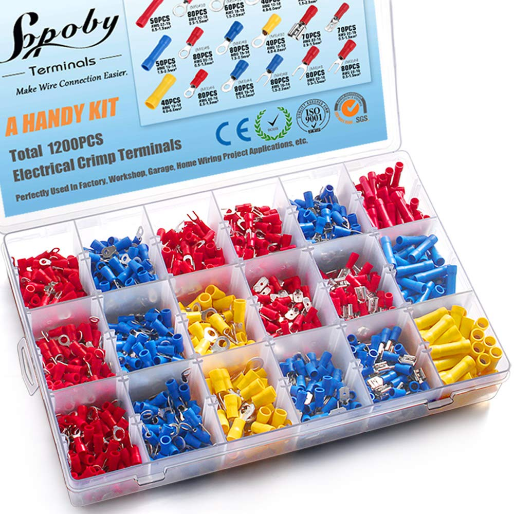 1200PCS Electrical Connectors Sopoby Terminals Over item Max 71% OFF handling Insulated Crimp