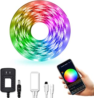 DAYBETTER LED Strip Lights, Smart LED Lights 16.4ft Waterproof 5050 RGB Color Changing Controlled by Phone APP, Sync to Music, WiFi LED Strips Work with Alexa, Google Assistant for Bedroom