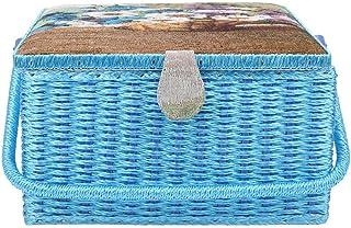 2層 裁縫箱 ソーイングボックス ソーイングバスケット 裁縫セット 開閉簡単 防塵 防湿 防虫 手芸 用品 道具箱 縫製アクセサリー 家庭用 ニットツール