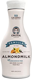 Califia Farms - Almond Milk, Vanilla, 48 Oz, Non Dairy, Plant Based, Nut Milk, Vegan, Non-GMO