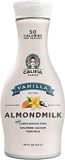 Califia Farms Vanilla Almondmilk, 48 Oz | Dairy Free | Plant Based | Nut Milk | Vegan | Non-GMO