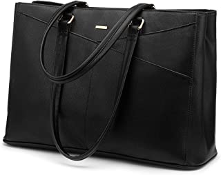 Laptop Tote Bag for Women 15.6 Inch Waterproof Leather Computer Laptop Bag Women Business Office Work Bag Briefcase Large ...