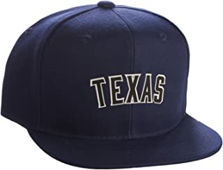 Classic Flat Bill Visor USA Cities State Snapback Hat 3D Raised Silicon Letters Cap