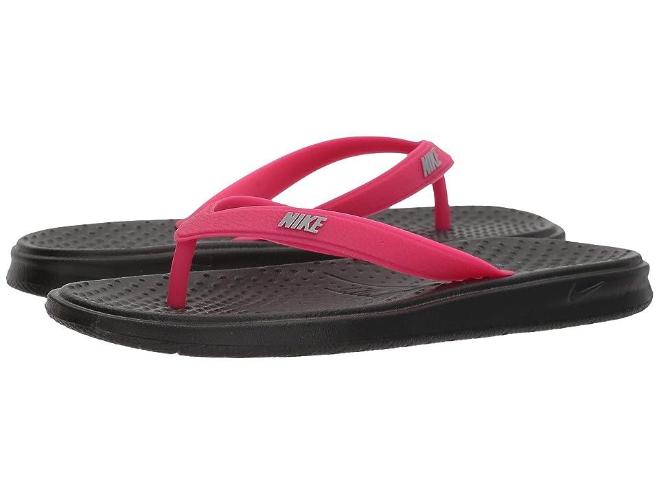 Nike Kids Solay Thong (Little Kid/Big Kid) (Black/Wolf Grey/Rush Pink) Girls Shoes