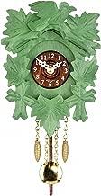 ISDD relojes cucú Kuckulino Reloj en miniatura de la selva negra Cucú verde, incluye batería