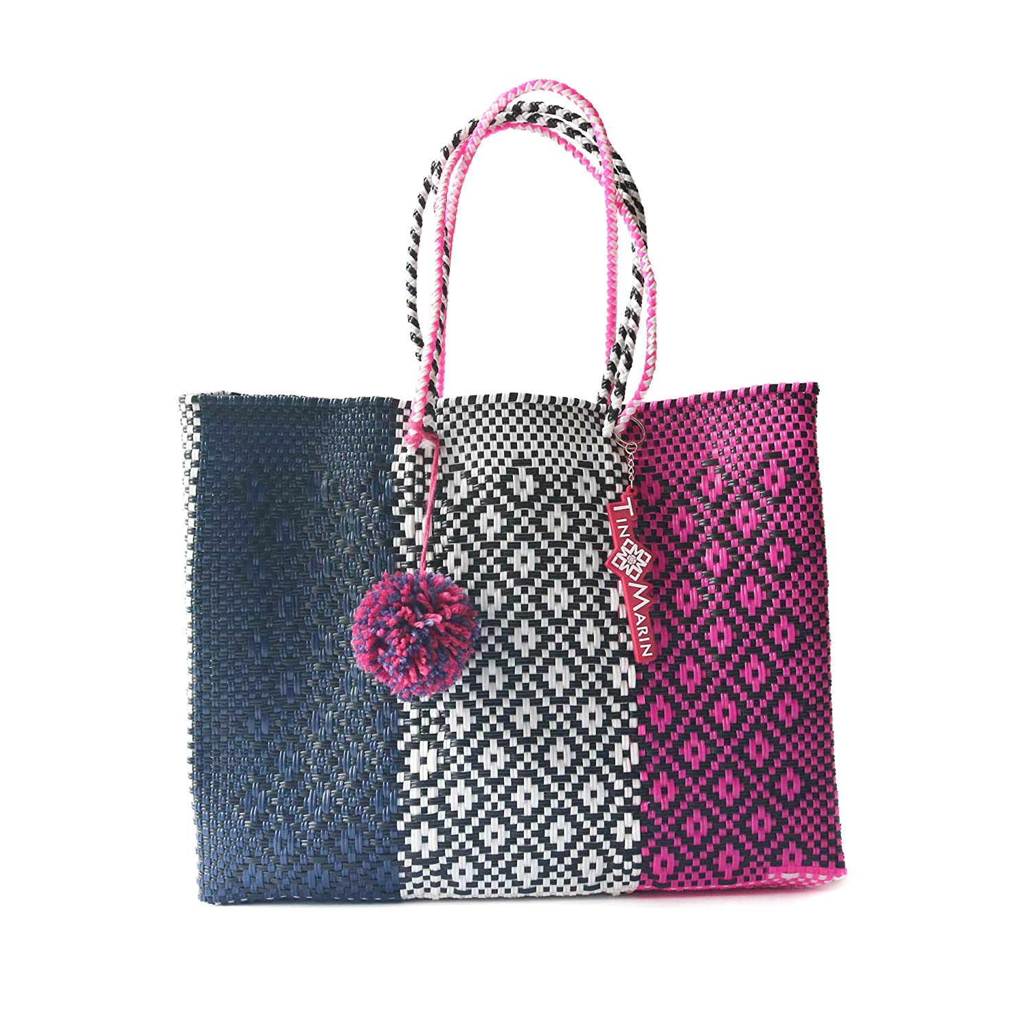 SEAL limited product Bloom Super Tote Handwoven Brand Cheap Sale Venue Mexican Woven Plastic