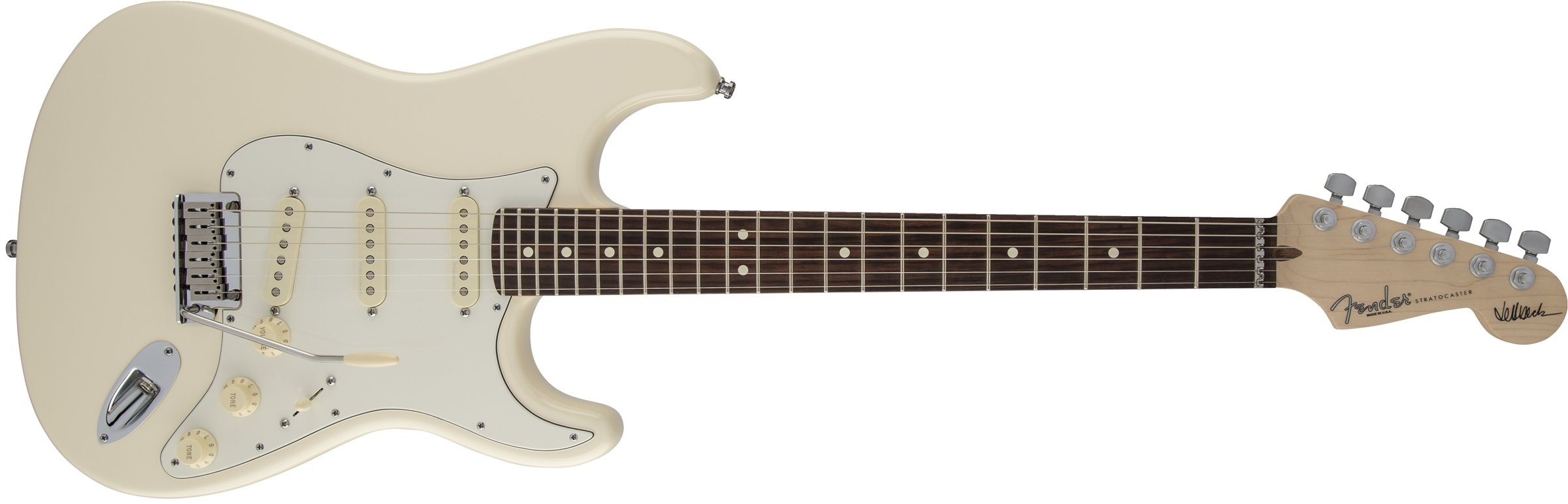 Cheap Fender Jeff Beck Stratocaster Electric Guitar Rosewood Fingerboard - Olympic White Black Friday & Cyber Monday 2019