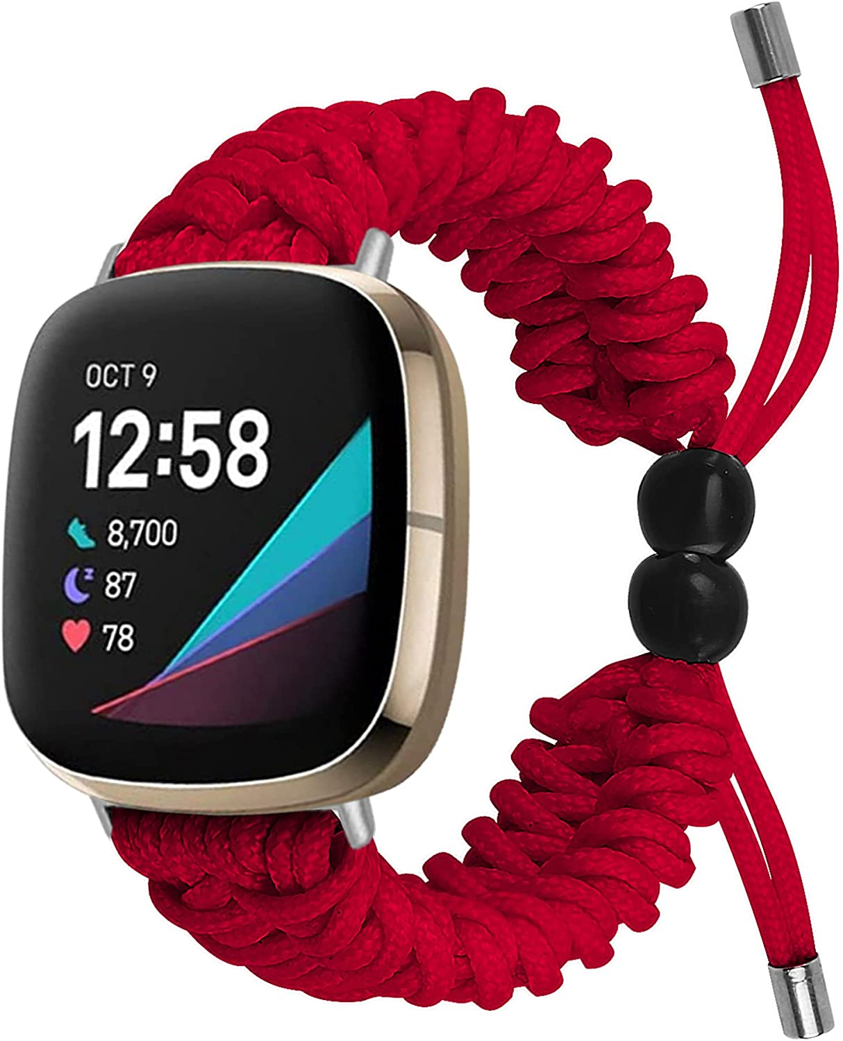 QINJIE Inventory cleanup selling sale Strap Compatible with Fitbit Adjustable Sense Versa3 Charlotte Mall Repl