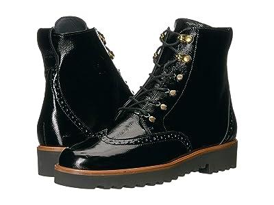 Paul Green Beau Boot (Black Crinkled Patent) Women