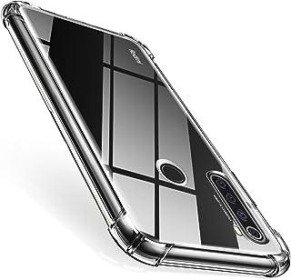 QHOHQ Compatibel voor Huawei P 40 Lite Case, met [2 x gehard glas Screen Protector], zachte siliconen TPU anti-cratch Clea...